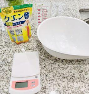 洗浄液の材料
